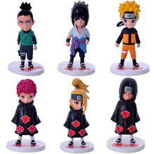 Buy 6pcs/set Anime Naruto Sasuke Shikamaru Sasori Deidara Itachi Uzumaki Naruto PVC Figure Action Figures Toys Collectible Model Toy for $11.88 in AliExpress store