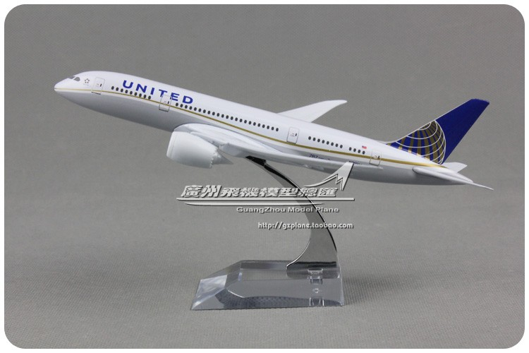 18cm Metal Airplane Model American Air UNITED Airlines B787 N20904 Boeing 787 Airways Plane Model W Stand Aircraft Toy Gift(China (Mainland))