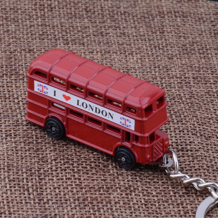 Factory outlet key chain wholesale German metal bus color creative metal pendant small gifts(China (Mainland))