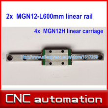 2PCS MGN12 L 600mm linear rail with 4pcs MGN12H linear carriages block(China (Mainland))