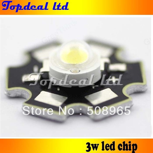 3W 180lm-200lm High Power Taiwan Epistar Chip LED Bulb Lamp Beads Neutral White 3800-4500K / with aluminum heat sink