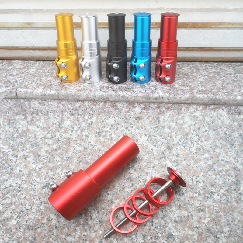 Bicycle front fork head tube stem increased heighten handlebar extend control bike parts accessories riser potencia de manilla(China (Mainland))