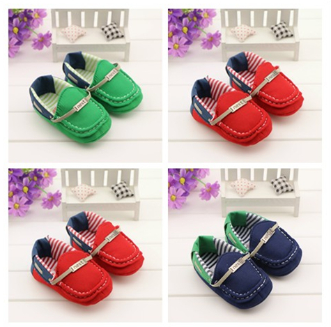 2015 New Baby Shoe Blue Green Red First Walkers Soft Sole Fashion New Born Babies Infant
