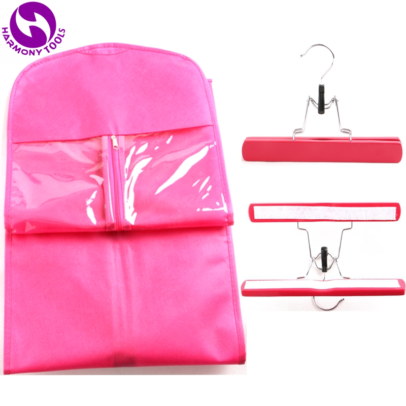 Pink zipper hanger package for hair extensions suit case bags hair packaging