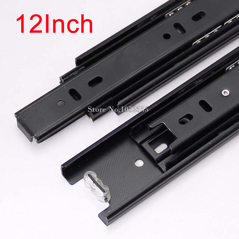 High Quality Portable 3 Fold Telescopic Fully Extension 300mm Drawer Runner Slides Rail Heavy Duty Furniture Hardware K178/3(China (Mainland))