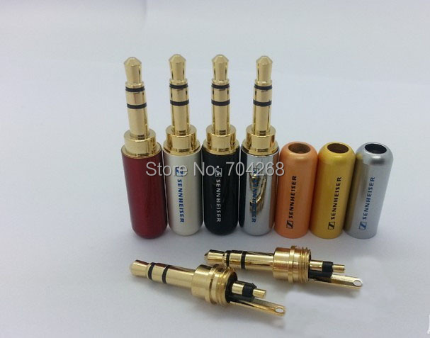 20pcs lot 3 Pole 3 5 mm Audio Jack Connector Gold Plated Plug Laser Printing Stereo