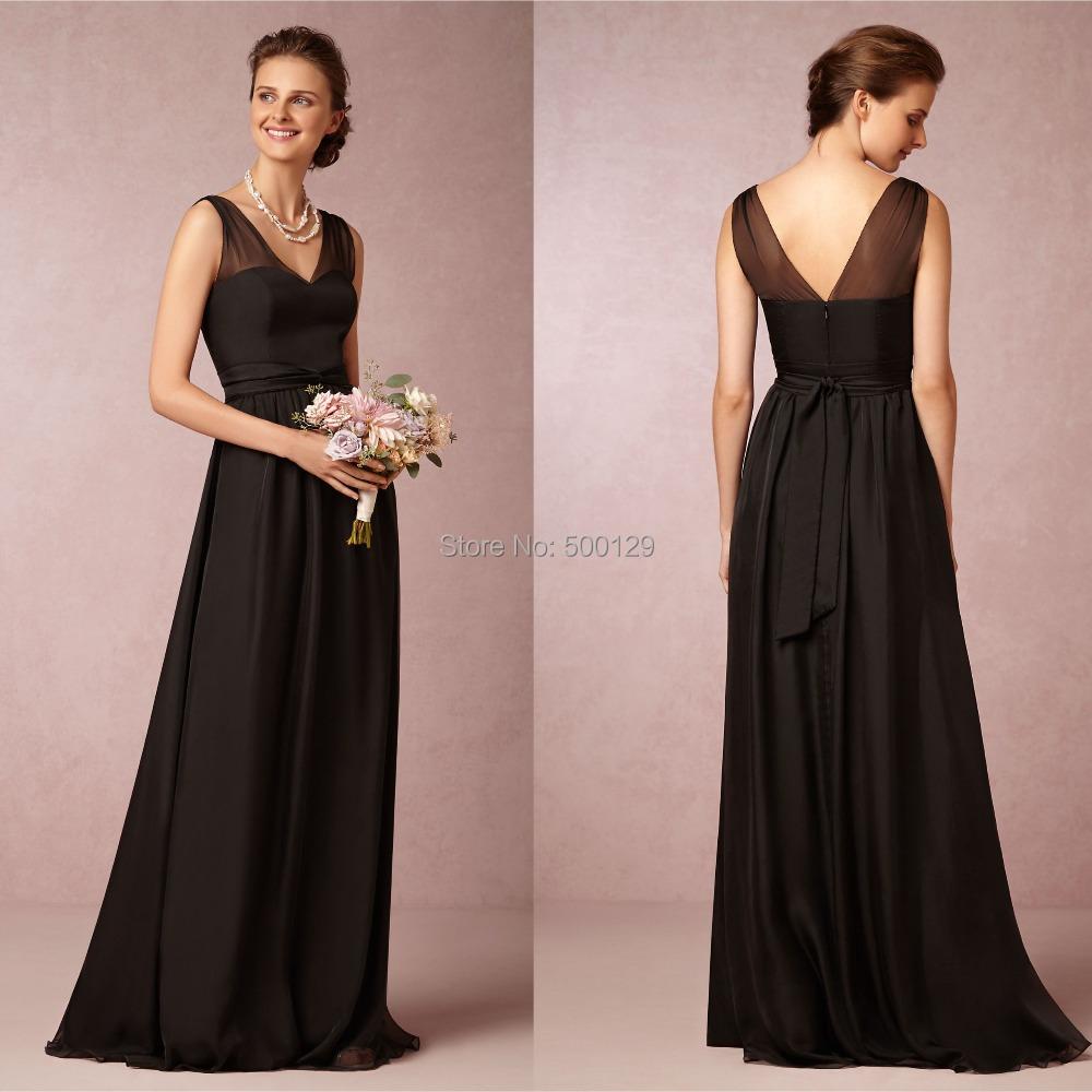 Long Black Bridesmaid Dresses Cocktail Dresses 2016