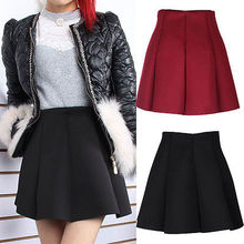 2016 New Autumn And Winter Neoprene new space cotton elastic force high waist skirts pleated skirt women skirt saia casuales
