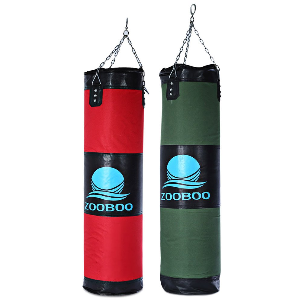 Hot Sale Zooboo 1PCS 100cm Boxing Striking Drop Hollow Boxing Pad Punching Sand Bags Square Foot Target with Chain Martial Art(China (Mainland))