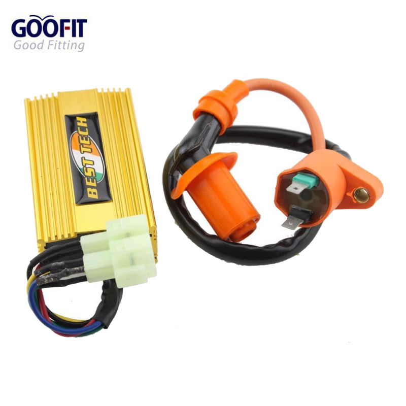 GOOFIT Performance Ignition Coil Dc CDI Box Fit for Chinese font b Gy6 b font 150cc