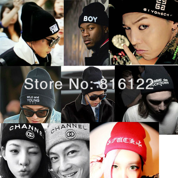 Free Shipping 2013 free knitting pattern beanie beanie hats for girl and boy hiphop GD cap hat(China (Mainland))