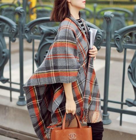 160 см * 13c0m новинка 2016 Za мода евро уличный стиль кисточки плед толщиной теплая зима длинный шарф большой марка платки