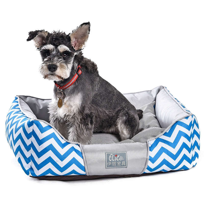 Free Shipping Striped Ice Silk Pet Bed Dog Cat House New Design Drop Temperature In Summer Cool For Puppy Kitten High Quality(China (Mainland))