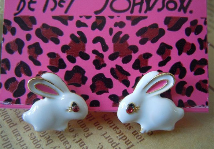 """Fashion stud earrings 2014 new pure fresh quietly elegant simplicity lovely white rabbit women's earrings, 403 - The original """"decorated"""" You store"""