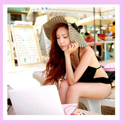 Free Shipping 20pcs/lot Manufacture Quality Straw Fedora Beach Hat Female Summer Sunbonnet Cap 2015(China (Mainland))