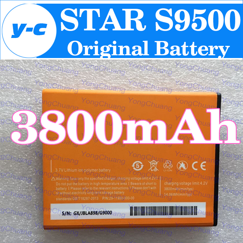 STAR S9500 Battery New Original Large 3800mAh Battery for STAR S9500 Smart Cell Phone In Stock Free Shipping + Tracking Number