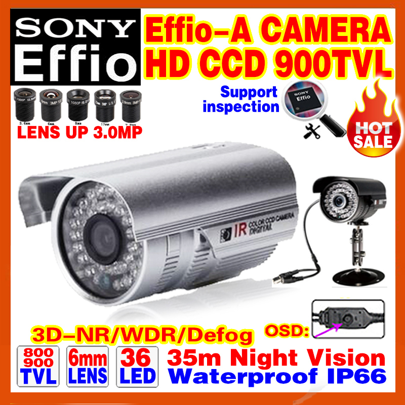 "Sale With Bracket 1/3""Sony Ccd Effio-A 800/900TVL HD Cctv Camera Osd Surveillance Products Infrared 35m Outdoor Waterproof Ip66(China (Mainland))"