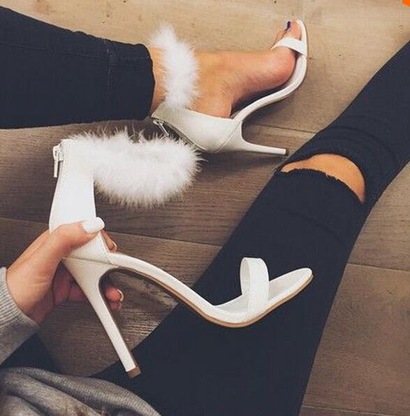 Online Buy Wholesale pink fluffy heels from China pink fluffy ...
