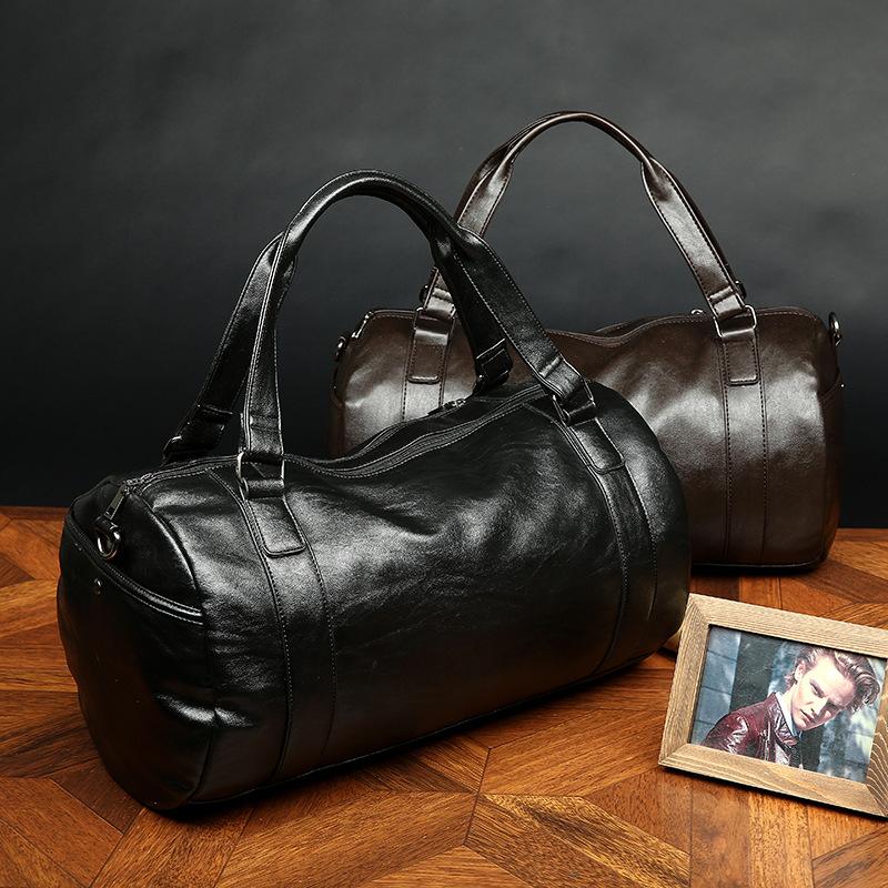 PU GYM Bag New Men Gym bags travel fashion handbags tour tote shoulder bags Sports big