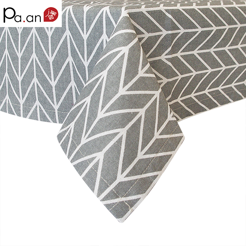 Gray Cotton Linen Table Cloth Geometric Arrow Printed Rectangle Dust Proof Covers for Tables Desk TV Soft Home Decor Cloth Pa.an(China (Mainland))