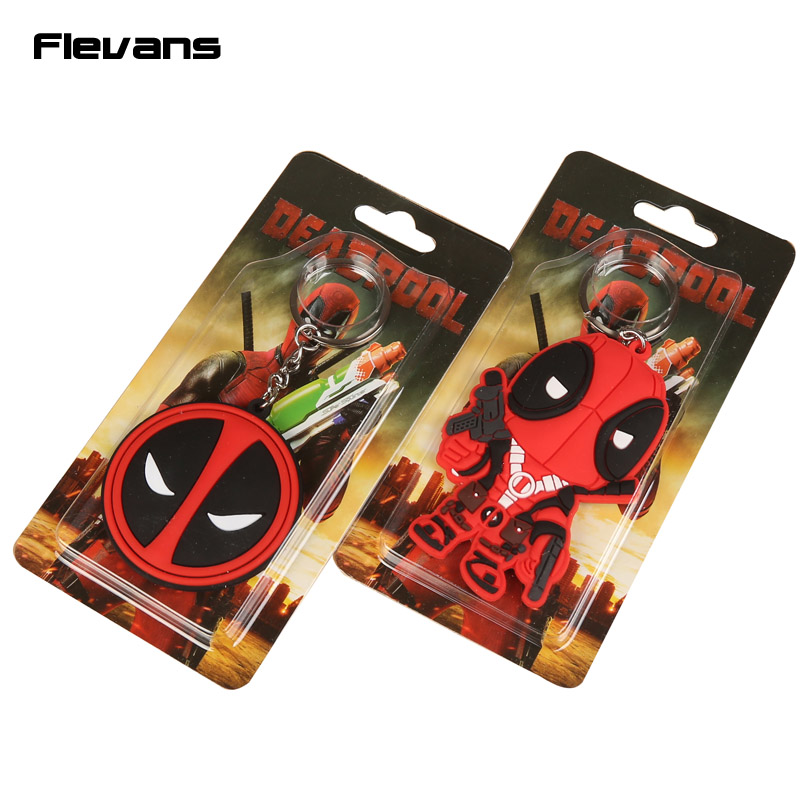 Marvel Deadpool PVC Figure Toy Keychains Pendants 2 Styles 5cm/8cm 10pcs/lot<br><br>Aliexpress