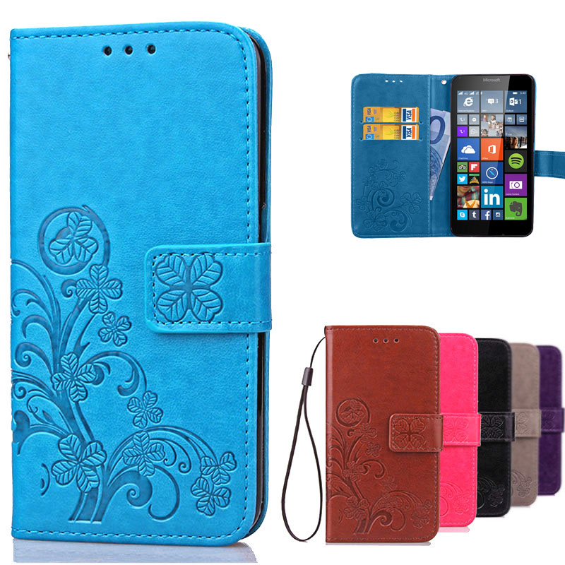For Lumia 640 Case Microsoft Leather Flip Wallet Cover Case For Microsoft Lumia 640 LTE / Dual Sim phone case with Card Holder(China (Mainland))