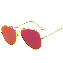 New Flat Pannel Women Sunglasses Brand Designer Vintage Mirror Lens Sun glasses Summer Aviation Men Sunglasses Metal Frame UV400