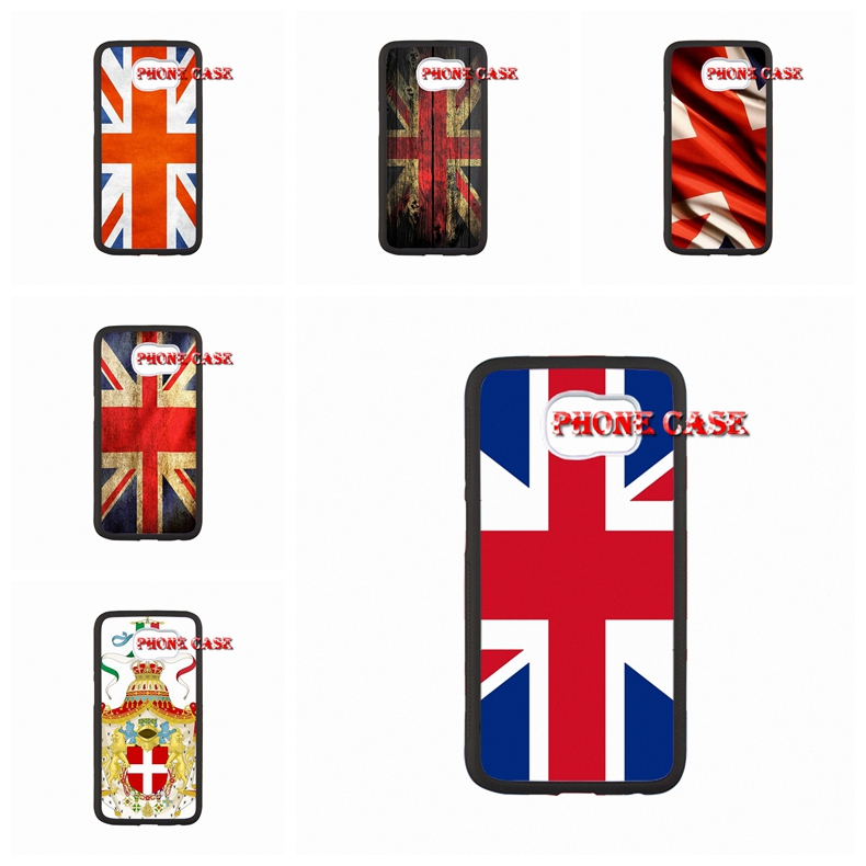 For Samsung Galaxy S3 S4 S5 Mini s6 s7 edge Note 2 3 4 A3 A5 A7 E5 E7 Case United Kingdom UK Flag Emblem Case Protective(China (Mainland))