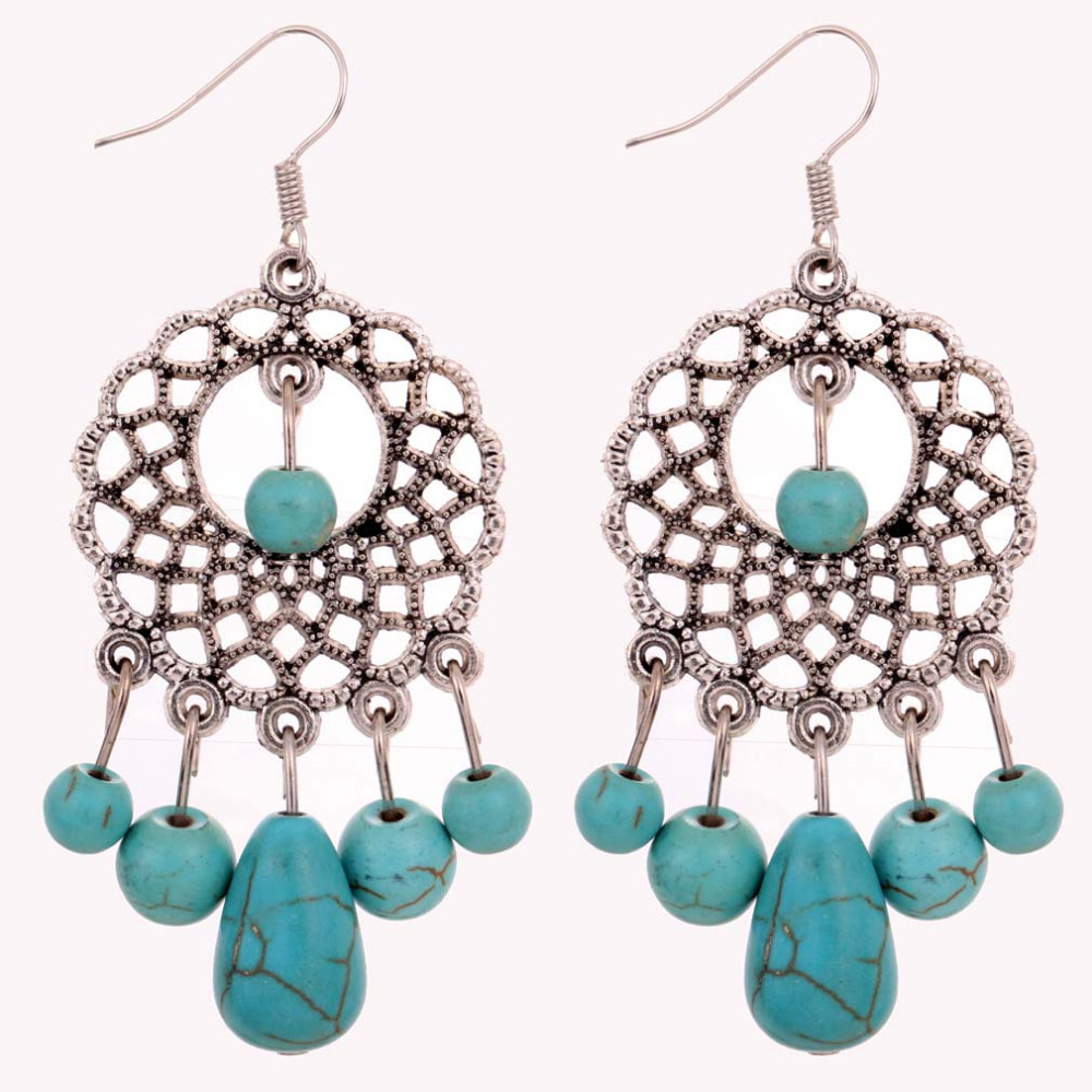 Design Elegant Turquoise Earrings Hot Selling Elegant Women