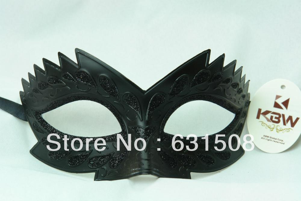 Venetian Party Mask, Solid Black color ,Halloween mask ,Item M3119 14