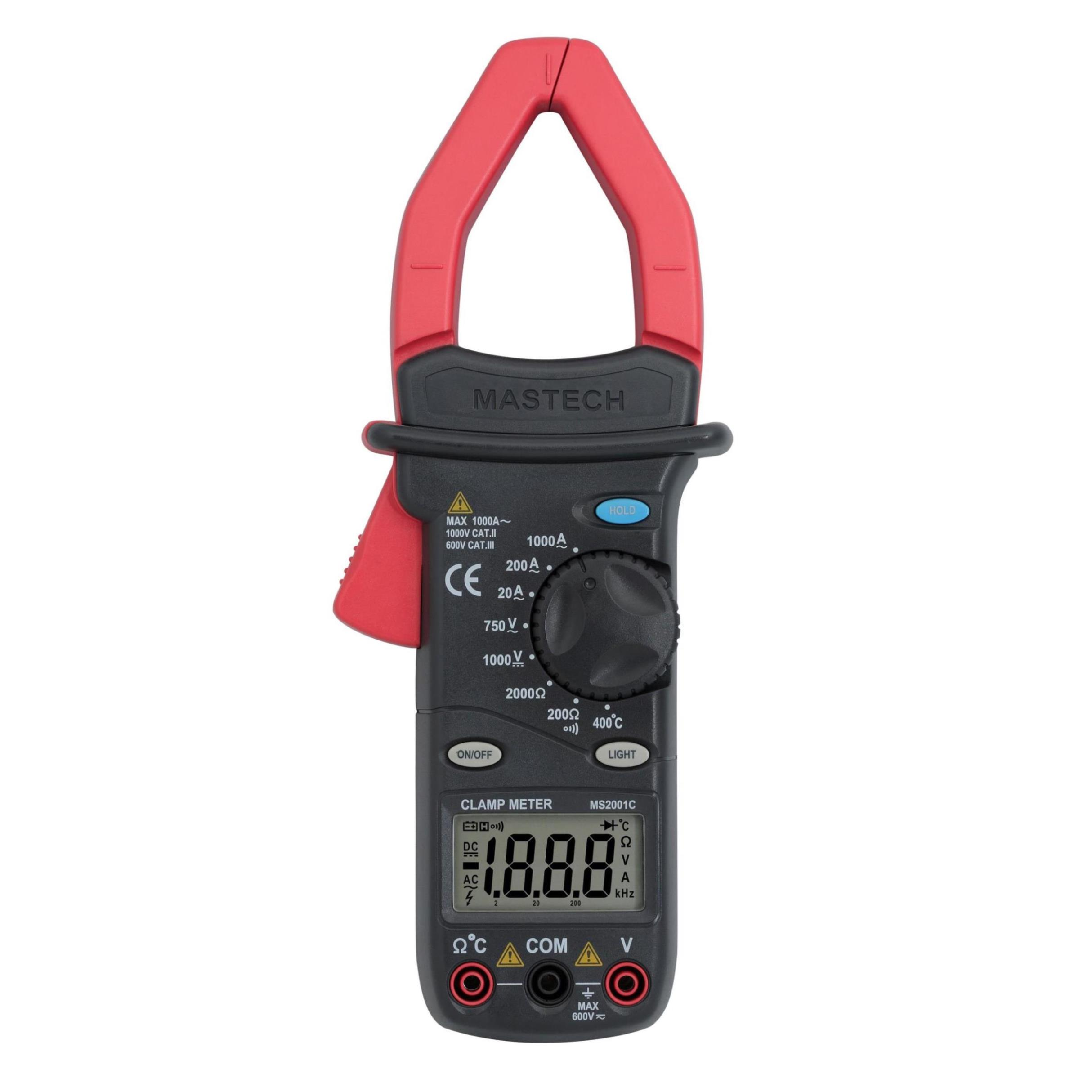 MASTECH MS2001C Digital Clamp Meter AC/DC Voltage Tester Detector with Diode and Backlit(China (Mainland))