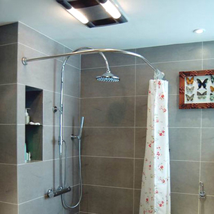 Curtain Rods corner shower curtain rods : Corner Shower Curtain Rod - Rooms