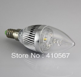 Fedex DHL Free shipping   3W E14 LED dimmable Candle Light  lamp LED spot light<br><br>Aliexpress