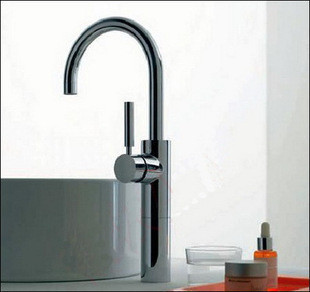 free shipping Sanitary ware copper hot and cold bathroom rotating mop sink faucet(China (Mainland))