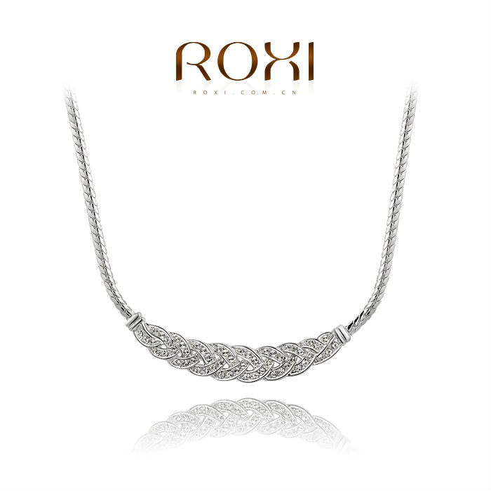 ROXI fashion new arrival, genuine Austrian crystal,Delicate white gold necklace, Chrismas/Birthday gift2030001630(China (Mainland))