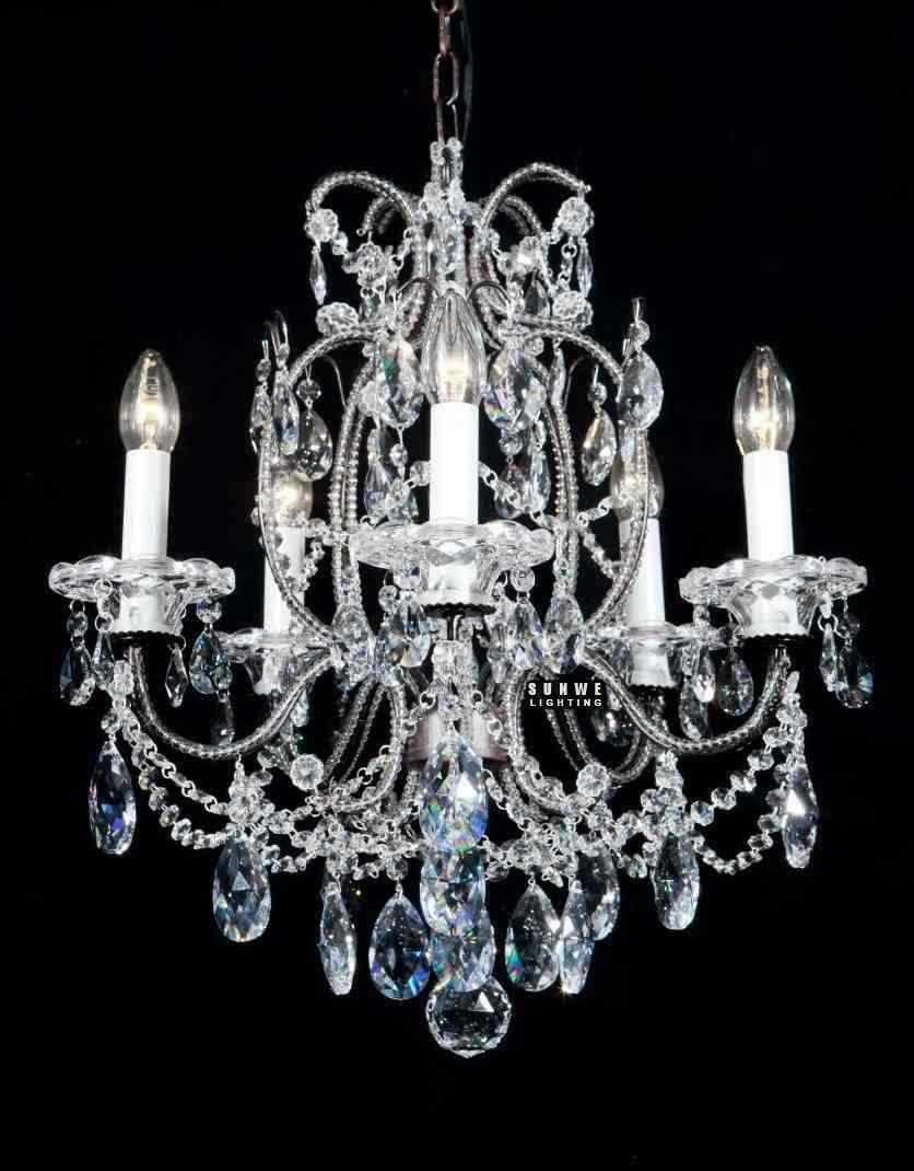 Affordable Crystal Chandelier Light Small Bedroom Chandelier Dress With Crystal Drop E9083 51cm