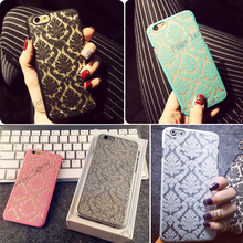 Brand New Glam 2015 Flower Damask Hard Plastic Back Mobile Phone Skin Case Cover For Iphone 5 5S 6 6 Plus