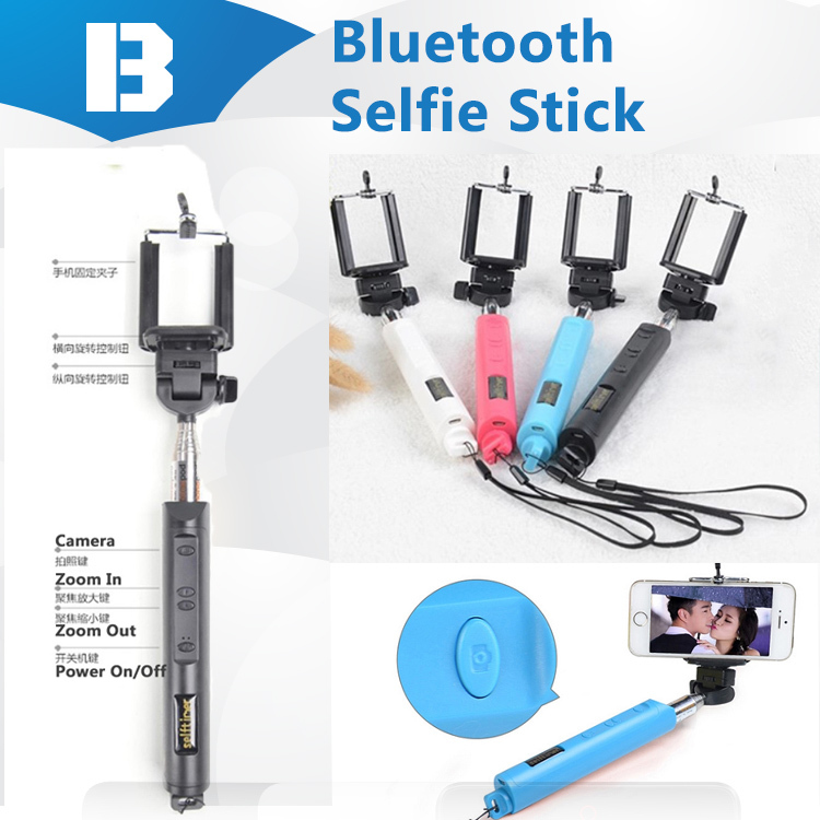 new design zooming function wireless bluetooth button monopod self photo self. Black Bedroom Furniture Sets. Home Design Ideas