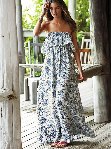Long Summer Dress Strapless Sleeveless Chiffon Floral Maxi Dress Plus Size Dress Sexy Beach Dress Robe Longue Femme Vestidos(China (Mainland))