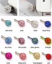 30X CRYSTAL BALL DUST COVER PLUG FOR MOBILE PHONES IPAD IPHONE(China (Mainland))