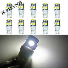 Wholesale 10pcs/Lot Canbus T10 5smd 5050 LED car Light Canbus W5W 194 5050 SMD Error Free White Light Bulbs