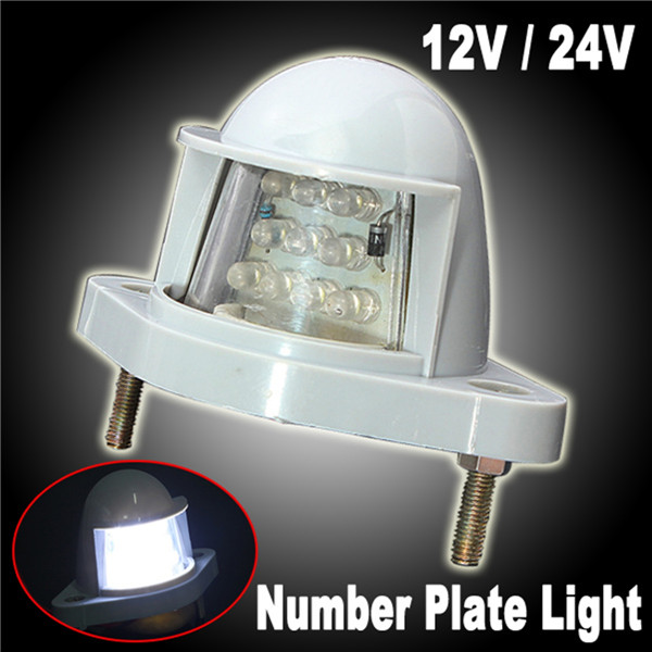 24V 10 LED Number Licence Plate Light Rear Tail Lamp For Trailer Truck Lorry Van Caravan<br><br>Aliexpress