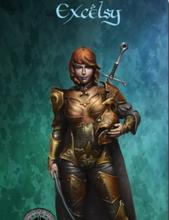 Light Grey Resin Figure Model Female swordsman In-Stock Items (Free Shipping)
