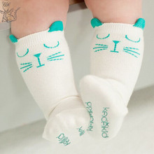 2015 Brand White and gray cat baby cotton girls socks fashion meias infantil boys socks Magic Socks