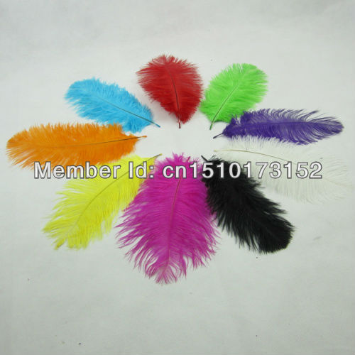 10 10-12inches/25-30cm Multi-Colors beautiful Feather Ostrich wedding centerpieces GE1-2  -  TiTi Market store