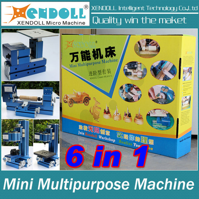 6 in 1Mini Combined Machine, Mini Lathe ,Milling ,Drilling ,Wood Turning ,Jag Saw and Sanding Machine, DIY Tool