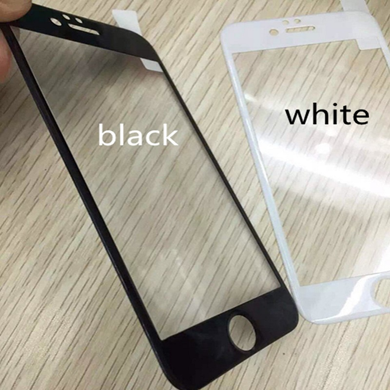 Freeshipping Covered Carbon Fiber Tempered Glass Film 3d Curved For Toughed Protector Cover Skin For iPhones 6/6s 6Plus/6s Plus(China (Mainland))