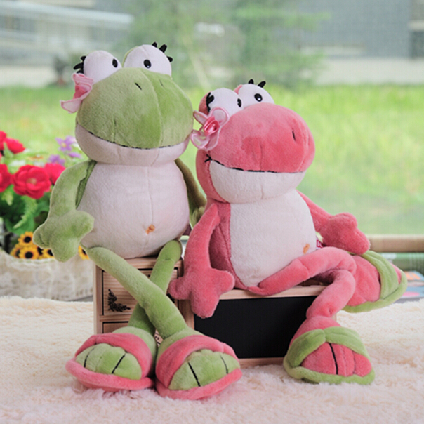 1pc 2016 New Nici The Frog Prince Cute Frog Plush Toy 35cm & 50cm Children Lovers Birthday Christmas Present(China (Mainland))