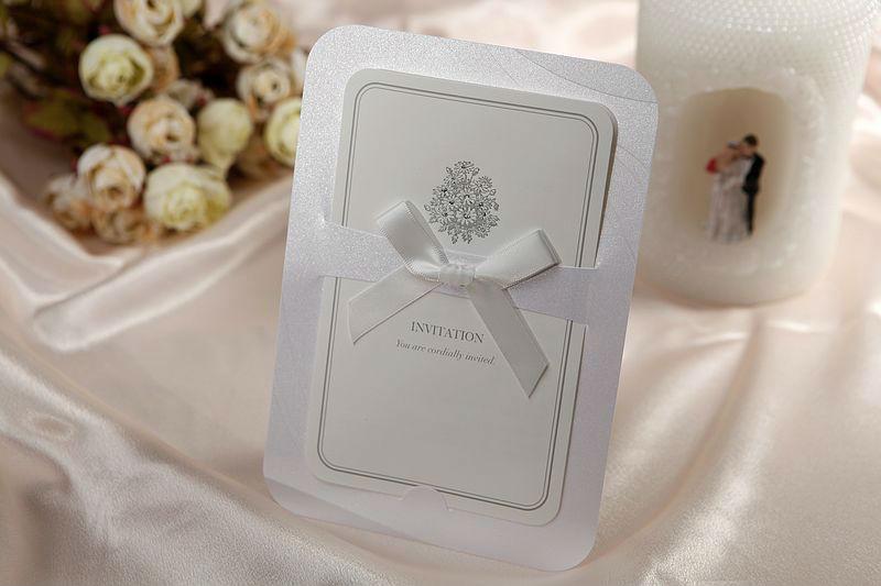 Wholesale - 50Sets Formal Floral Print Folded Wedding Invitation Kit +50 Envelopes+50 Seals, Free Printable(China (Mainland))
