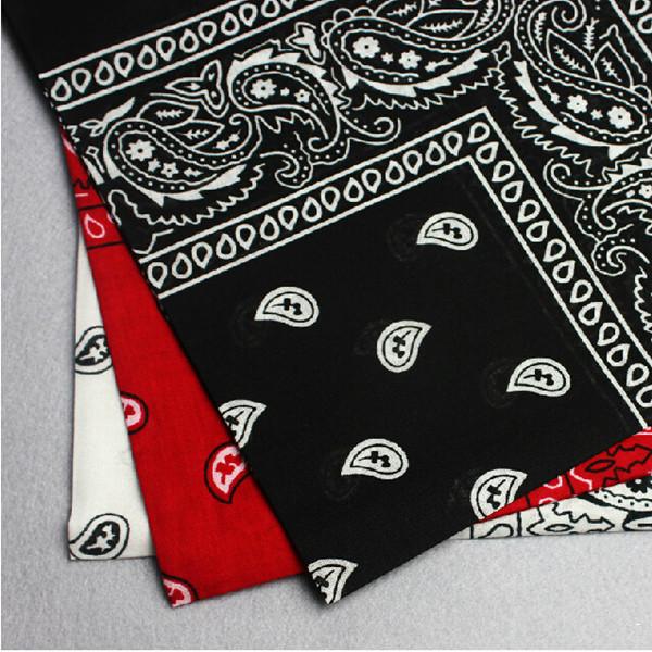 1PC 100% Cotton Dozen Bandanas 5 Colors Paisley Bandanas Double Sided Head Wrap Scarf Wristband(China (Mainland))